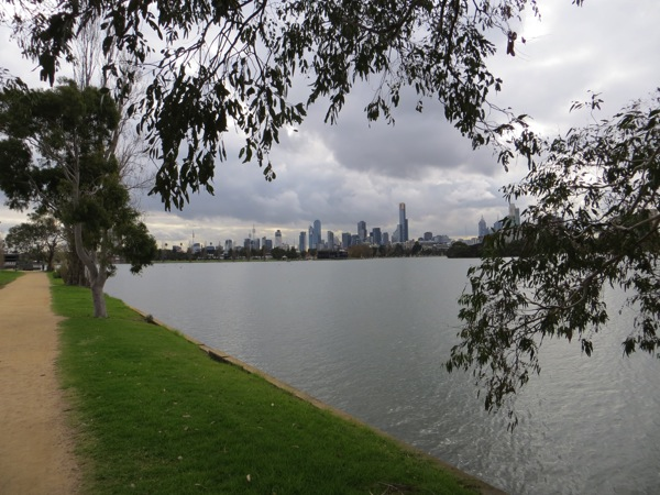 Melbourne across Albert Park Lake