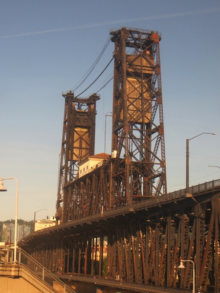 Williamette River rail bridge