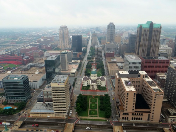 St Louis from the Gateway Arch