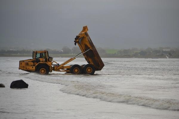 Sand dumping