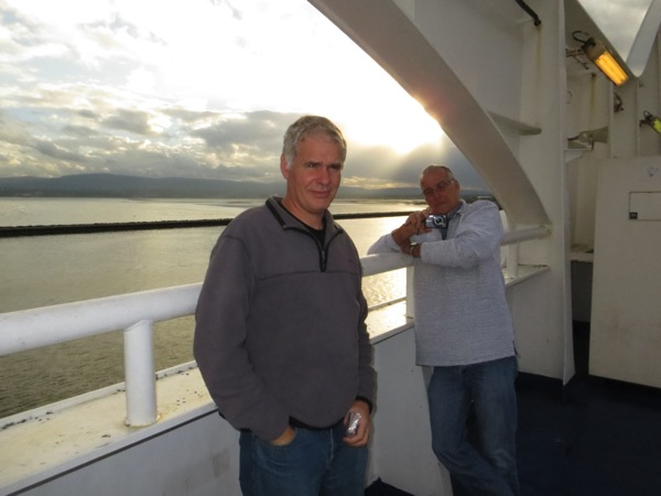 Bernie and Dave on the Ferry