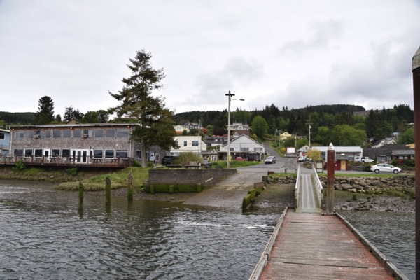 Wheeler from its jetty