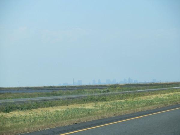 Distant Sacramento skyline