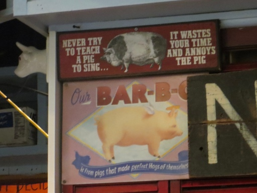 Never teach a pig to sing...