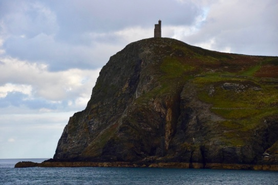 Bradda Head and the ruined chapel