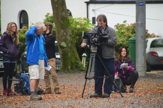 TV crew arrive