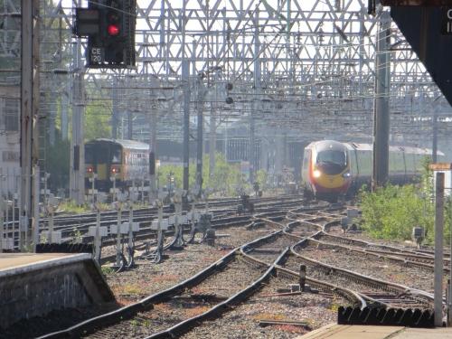 Pendolino arriving at Crewe