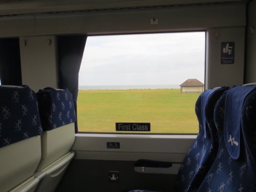 View across the carriage
