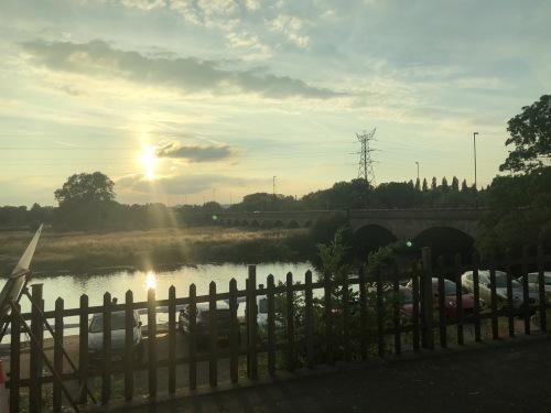 Sunset over Burton Bridge